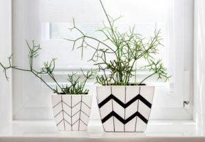 stripey pattern on pot